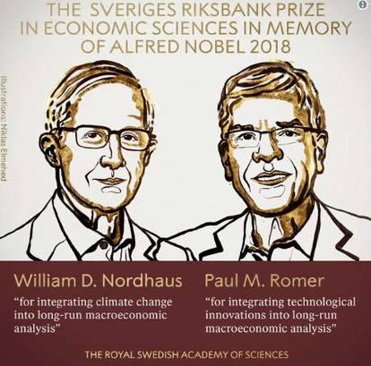 Hai nguoi My cung nhan giai Nobel Kinh te 2018