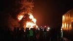Xe tải cháy dữ dội trên quốc lộ, 30 tấn mủ cao su bị thiêu rụi