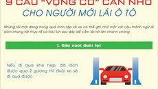 """9 câu """"vọng cổ"""" cần nhớ cho người mới lái ô tô"""