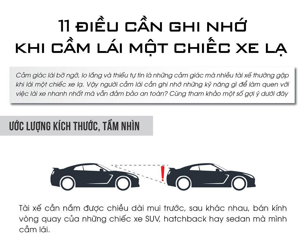 11 điều cần ghi nhớ khi cầm lái một chiếc xe lạ