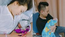 Vợ chồng hotgirl Trâm Anh, JustaTee hạnh phúc đón con gái chào đời