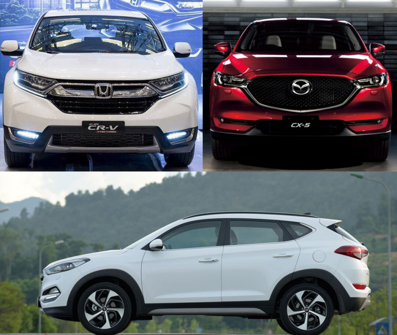 Honda CR-V,Mazda CX-5,Hyundai Tucson,crossover,xe nhập khẩu
