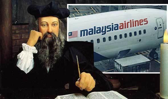 MH370,máy bay mất tích bí ẩn,nhà tiên tri,Nostradamus
