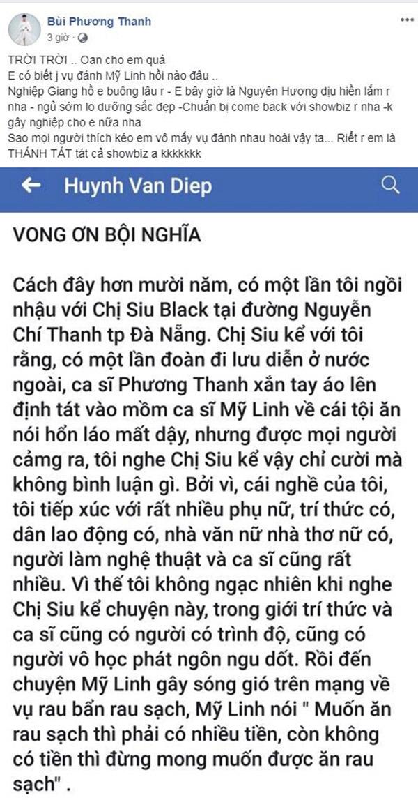 Phương Thanh kêu oan trước tin suýt đánh Mỹ Linh 10 năm trước