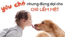 Bạn có thể yêu chó, nhưng đừng cho chó liếm mặt