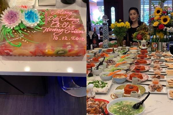 Danh hài Kiều Oanh mở tiệc đầy tháng cho con gái thứ 2