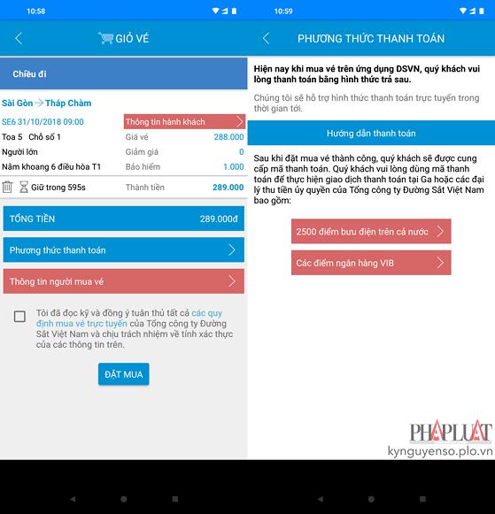 Cách mua vé tàu Tết 2019 bằng điện thoại