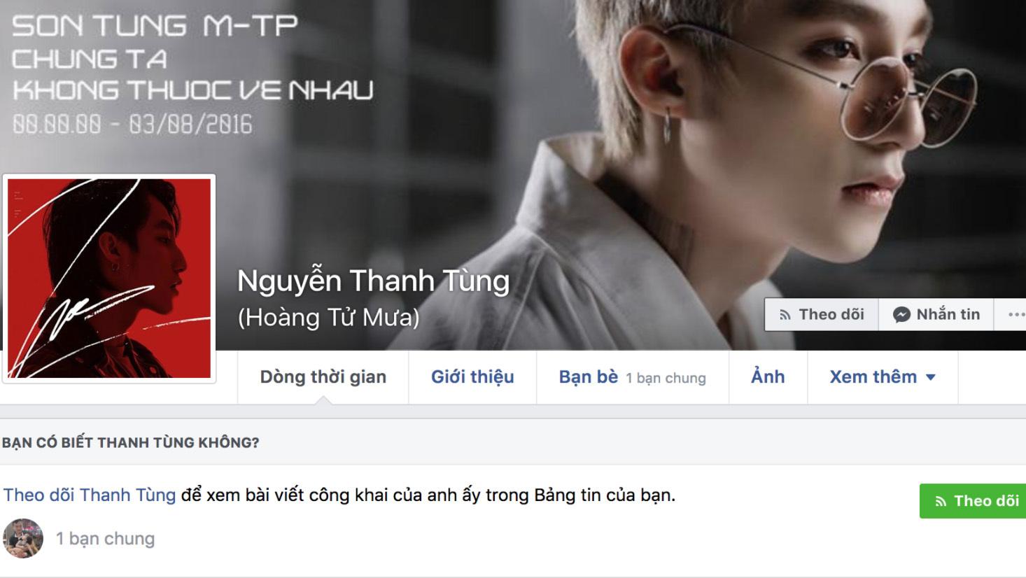 Cộng đồng mạng xôn xao khi biết tin Sơn Tùng MTP bị khoá Facebook