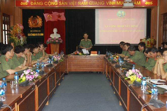 Công bố quyết định tổ chức, cán bộ của Đảng ủy Công an TƯ