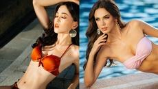 Phương Nga đọ đường cong nóng bỏng cùng thí sinh Hoa hậu Hòa bình