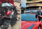 Siêu xe 15 tỷ của Tuấn Hưng gặp tai nạn nát đầu