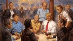 Bức tranh treo tường của ông Trump gây bão