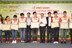 Olympiad 2018: Thêm 10.000 USD thưởng Tuyển Cờ vua Việt Nam