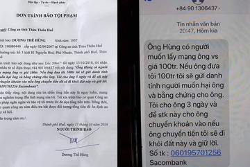 Lãnh đạo Văn phòng đoàn ĐBQH Hà Nội và 4 tỉnh bị nhắn tin tống tiền