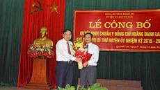 Nhân sự mới Nghệ An, Thái Bình, Đà Nẵng