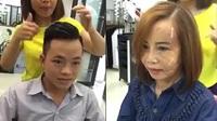 Cô dâu 62 tuổi đi làm tóc với khuôn mặt sưng phồng sau phẫu thuật