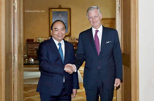 Thủ tướng hội kiến Nhà vua Bỉ Phillippe