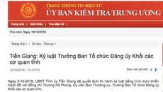 Cắt ghép chữ ký Phó bí thư, Trưởng Ban Tổ chức Đảng ủy Khối bị kỷ luật