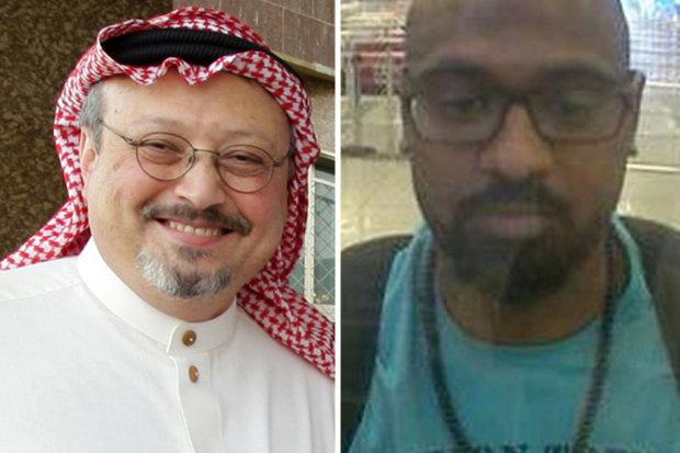Nghi phạm Albostani (phải) và nhà báo Khashoggi