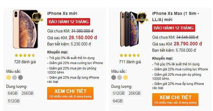 iPhone Xr bán tại Việt Nam giá 23 triệu, xách tay rẻ hơn chính hãng 3 triệu