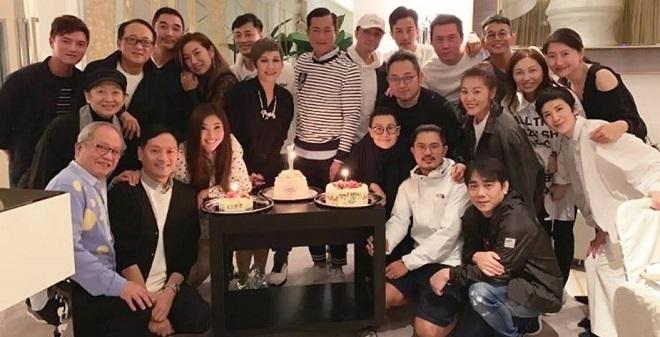 Cổ Thiên Lạc đón sinh nhật tuổi 48 tuổi bên dàn sao Hong Kong gạo cội