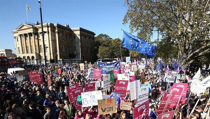 Anh,London,tuần hành,Brexit,biểu tình