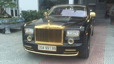 Rolls-Royce Phantom rồng vàng 35 tỷ xuất hiện tại Hải Phòng