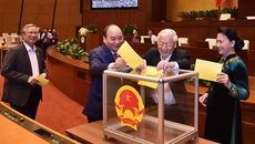 Quốc hội bỏ phiếu bầu Tổng bí thư làm Chủ tịch nước