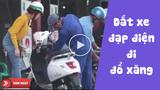 Người phụ nữ dắt xe điện vào đổ xăng khiến dân mạng không nhịn được cười