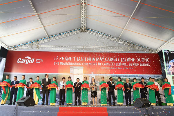 Cargill khánh thành nhà máy thức ăn chăn nuôi lớn nhất