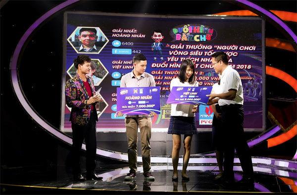 Trao giải thí sinh được yêu thích trên fanpage Đuổi hình bắt chữ