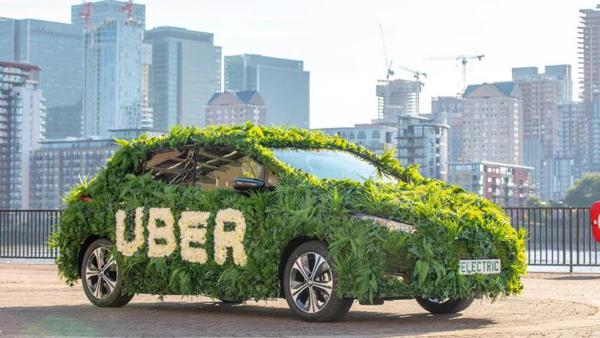 Uber sử dụng hoàn toàn xe điện để đón khách vào năm 2025