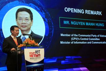 Phát biểu của Bộ trưởng TT&TT Nguyễn Mạnh Hùng tại Smart IoT Vietnam 2018