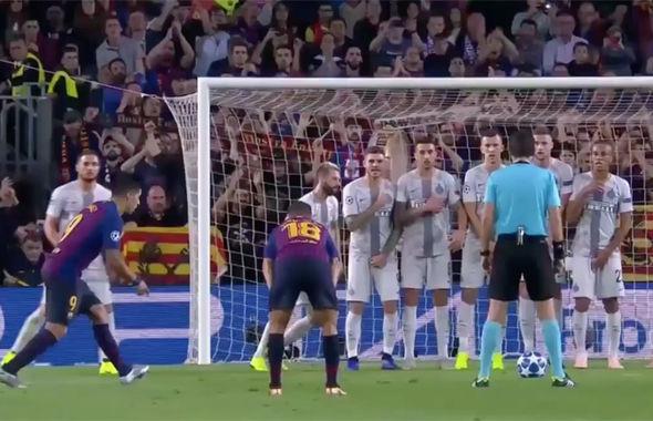 Phát sốt với màn lập rào chắn sút phạt của cầu thủ Inter