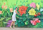 Hà Nội có thêm bức tường bốn mùa hoa tuyệt đẹp