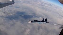 Xem tiêm kích, oanh tạc cơ Nga tiếp nhiên liệu giữa không trung
