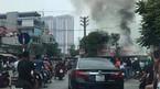 Hà Nội: Cháy dữ dội tiệm sửa xe máy sau tiếng nổ lớn