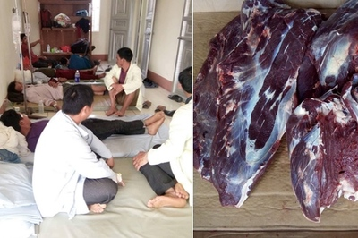 42 người nhập viện vì ngộ độc sau khi ăn thịt trâu