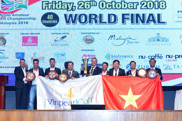 Đội tuyển Golf Việt Nam vô địch WAGC Thế giới 2018