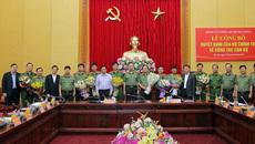 Đảng ủy Công an TƯ công bố quyết định của Bộ Chính trị về công tác cán bộ