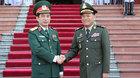 Hình ảnh lễ đón Tổng tư lệnh quân đội Hoàng gia Campuchia