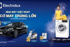 Mua máy giặt Electrolux, cơ hội trúng Mercedes