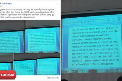 """Tâm thư """"lầy lội"""" của cô giáo ốm khiến cư dân mạng phát sốt"""