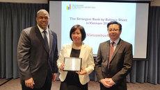 Vietcombank nhận giải Ngân hàng mạnh nhất Việt Nam