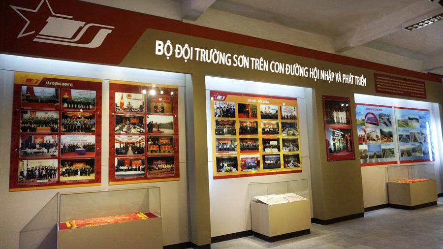 Trường Sơn thu nhỏ trong Bảo tàng đường Hồ Chí Minh