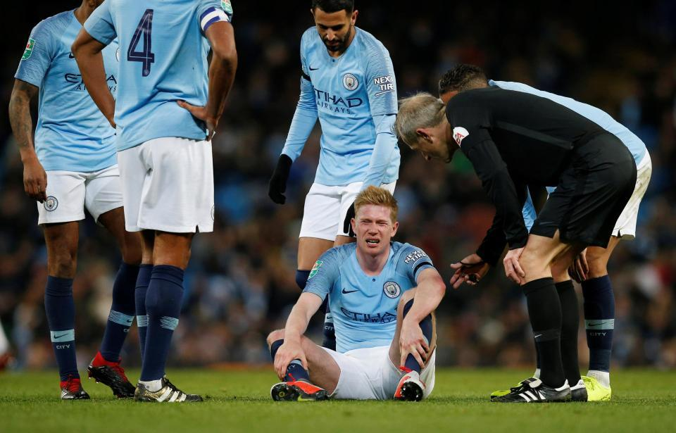 Man City méo mặt với chấn thương nặng của De Bruyne