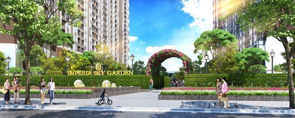 Imperia Sky Garden hoàn thành cất nóc và chính thức mở bán