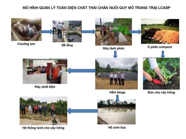LCASP-mô hình xử lý chất thải chăn nuôi 'được lòng' người dân