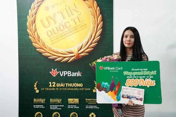 VPBank trao giải cho khách trúng chuyến du lịch 800 triệu