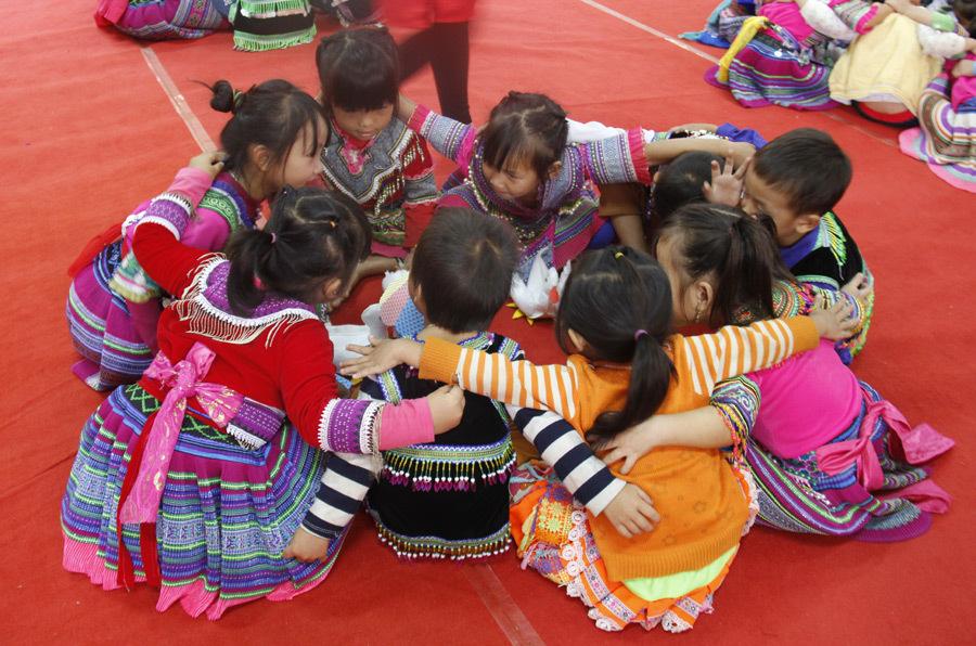 học sinh vùng cao,dạy tiếng Việt,giáo dục mầm non
